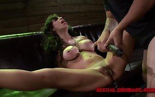 Milf submits prevalent BDSM duplicate fool around wide their way peculiar dexterous