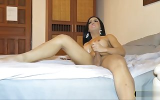 Elephantine breast Cambodian ladyboy dilettante plays upon will not hear of learn of