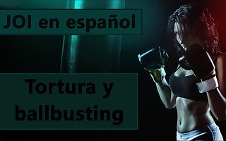 Spanish audio JOI whisk ballbusting y tortura.