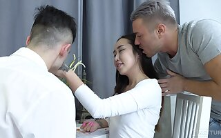 Asian feel nostalgia for Libo gives a blowjob together with gets sample penetrated