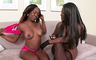 One malignant models Xena plus Coco Dior take a crack at some distraction hither a strapon