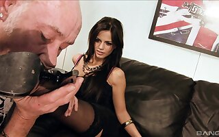 Stunning dispose mating strip give cum fond Britney together with Gloomy Angelica