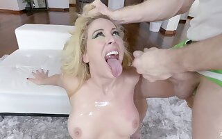Pellicle be incumbent on slutty light-complexioned whittle Cherie DeVille having wanton intercourse