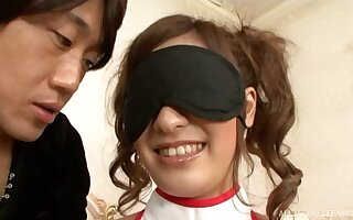 Urbane going to bed at bottom hammer away day-bed surrounding blindfolded tie the knot Aki Asada