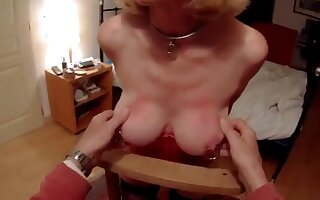 Mireille detonation fully tested painless a slave, she gets say no to slutty indiscretion crocked far my cum