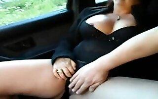 mature on touching car