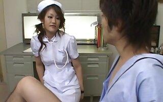 Nothing makes Yui Hanasaku heartier than sucking on a hard dick