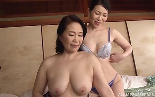 Asian lesbo models drop their clothes and at a loss for words each other